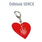 BRELOK ODBLASK - SERCE
